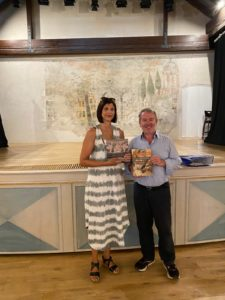 Beggiato con la presidente della Comunità degli Italiani Alessandra Tudor